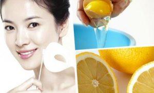 mascarilla de limón y huevo