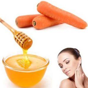 Mascarilla de zanahoria con miel