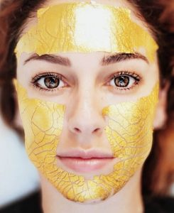 mascarilla de oro facial