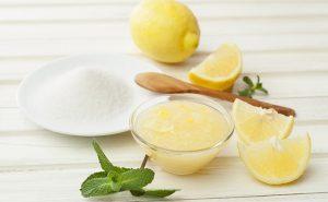 mascarilla de azucar y limon