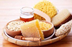 Mascarilla de miel con avena