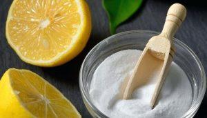 Mascarilla de bicarbonato con limón