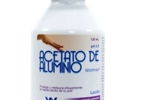 Acetato de Aluminio Para Qué Sirve
